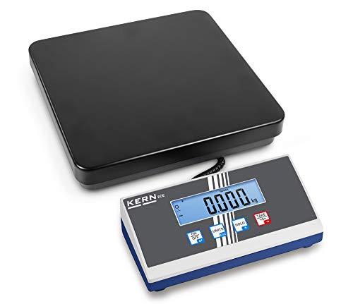 Kern EOE 30K-2 - Balanzas para paquetes con una gran plataforma, Campo de pesaje [Max]: 35 kg, Lectura [d]: 10 g, Plato de pesaje: AxPxA 300x300x65 mm (Acer lacado)