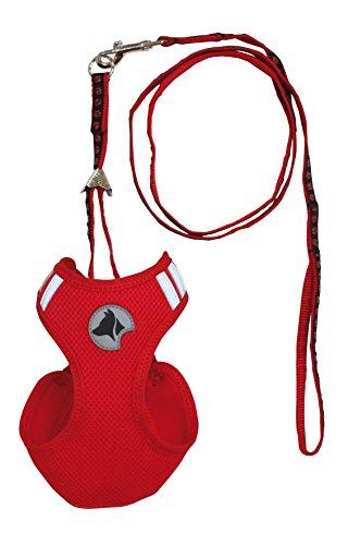 Croci Hiking Set de Harnais pour Chien Mesh Rouge 26 à 29 cm