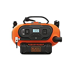powerful BLACK + DECKER 20V MAX Cordless Tire Inflator, Cordless and Wired Power Supply, Tools Only (BDINF20C)