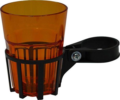 Angerer Getränkehalter für Hollywoodschaukel eisengrau, inkl. Becher orange, 970/08