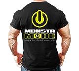 Monsta Clothing Co. Men's Workout Bodybuilding (Monsta-Mode) Gym T-Shirt (G:BK)