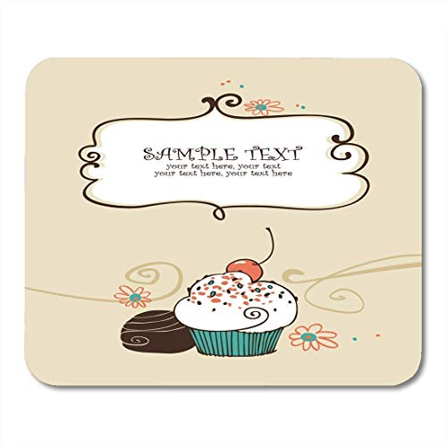 Mauspads hochzeitsrezept mit cupcake-kuchen vintage sweet bake geburtstag candy mouse pad für notebooks, Desktop-computer matten büromaterial