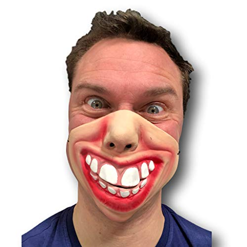 Rubber Johnnies Grand Dents Masque Latex Film FX Quality Déguisement Masquerade