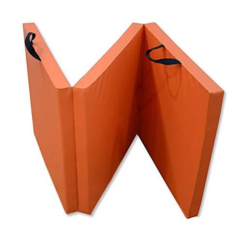 Yaunli Tapis Gymnastic Épais Pli Pliable Tapis d'exercice Poignées de Transport for la Maison Gym Protection revêtement de Sol for Le Yoga Danse étirements Exercice Mat Pilates
