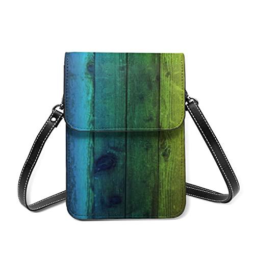 Mini sac à bandoulière pour téléphone portable - Peinture rouge - Blocage RFID - Multi-poches - - Bois arc-en-ciel, Taille unique