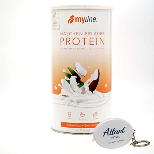 myline Eiweiß Pulver (1x400g) + 'Für Dich' Maßband, Geschmacksrichtung:Kokos-Quark mit Crispies