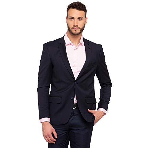Arrow Men's Notch Lapel Regular fit Blazer (AREB0037_Blue_42fs)
