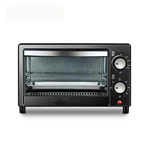 VIWIV Toastie Maker Breakfast Maker Toaster Retro 800-Watt Countertop Microwave Oven Pre Programmed Cooking Settings Easy Clean Interior, Black Breakfast Station (Color : Black, Size : 37.5x23.5x28.5C
