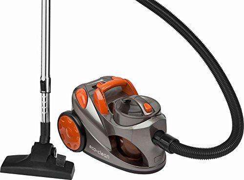 Beutelloser Staubsauger mit 700 Watt (Bodenstaubsauger ohne Beutel, 1,25 Liter Behälter, Hepa-Filter, gummierte Räder)