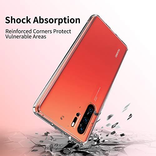 UNBREAKcable Huawei P30 Pro Hülle [stoßdämpfend, Nicht vergilbend] kristallklarer, weicher TPU Handyhülle mit Harter Rückseite aus PC für das Huawei P30Pro – Transparent - 5