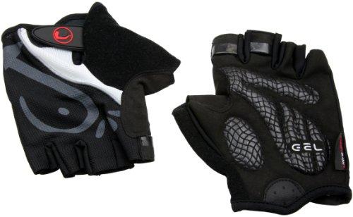 Ultrasport Advanced Fahrrad/Training Handschuhe, halbfinger, mit Geleinlage/Polsterung in Handinnenfläche, Mesheinsatz am Handrücken, Schwarz, L