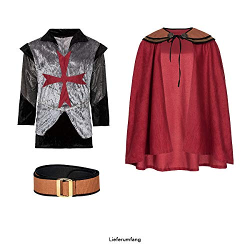 Kostümplanet® Ritter-Kostüm Herren Deluxe Tempel-Ritter Faschingskostüm Größe 56/58 - 7