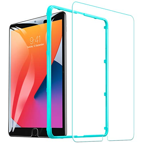 ESR Screen Protector for iPad 8th Generation 10.2 (2020)/7th Generation (2019)/Air 3 (2019)/Pro 10.5 (2017) [Free Installation Frame], Premium Tempered Glass, 1 Pack