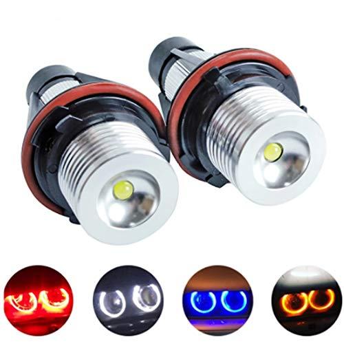 GCS Gcsheng 2 unids LED Angel Eyes Marker Lights Bulbs para E39 E53 E60 E61 E63 E64 E65 E66 E87 525i 530i XI 545i M5 Error Gratis 2 * 5W (Emitting Color : Red)