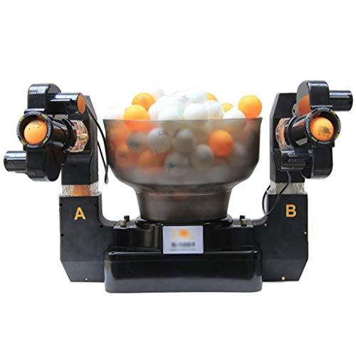 GSS-Rollstühle Tischtennis Training Doppelend-Roboter 2-Outlets Ball, automatische Tischtennis-Ballmaschine Einzel-/Doppel-Ball-Optionen erhältlich