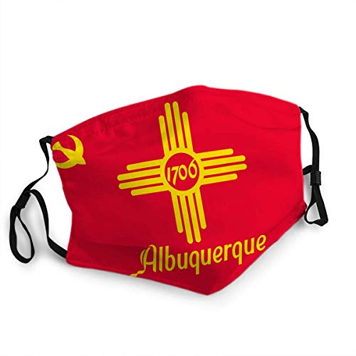 Face Cover Mouth Mask Flag of Albuquerque in New Mexico USA