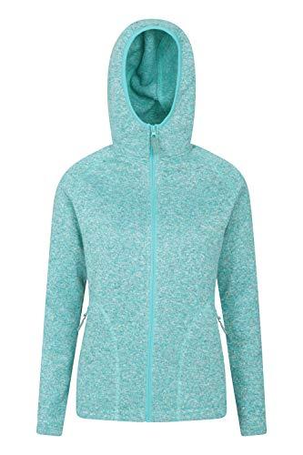 Mountain Warehouse Nevis Fleecejacke für Damen mit Reißverschluss – leichtes Sweatshirt für den Frühling, mit Taschen, atmungsaktiv – zum Spazierengehen, Reisen, Winter Hellblaugrün 36