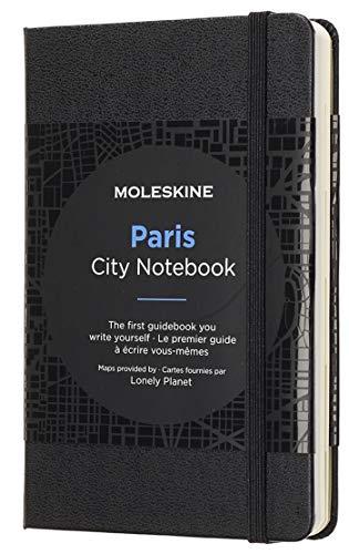 Moleskine - Cuaderno de Paris con Hojas Lisas y Rayadas, Libreta con Tapa Dura, Cierre Elástico y Planos de la Ciudad, Color Negro, Tamaño 9 x 14 cm, 220 Páginas