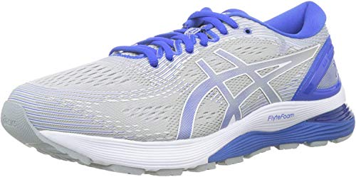 Asics Gel-Nimbus 21 Lite-Show, Zapatillas de Running para Hombre, Gris (Mid Grey/Illusion Blue 020), 42 EU