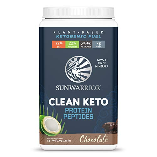 Sunwarrior - Vegan Clean Keto Protein Peptides Powder - Chocolate - 720g