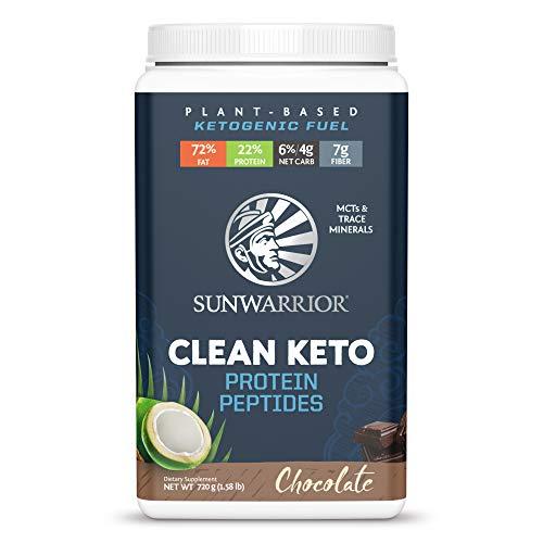 SUNWARRIOR Clean Keto Protein Peptides, Chocolate, 720 g