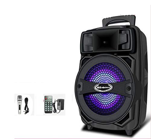 Unbekannt Party-Soundsystem (Partylautsprecher Karaoke, Bluetooth, Kompaktanlage, 440 Watt, Farbige LED, USB, AUX,Mikrofonanschluss),B