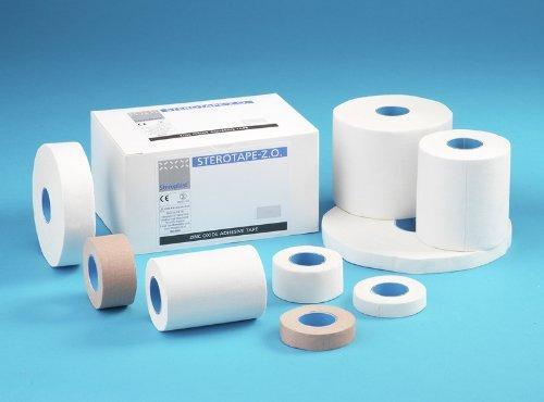 Steroplast White Zinc Oxide Tape 5.0cm x 10m x 2 Rolls.