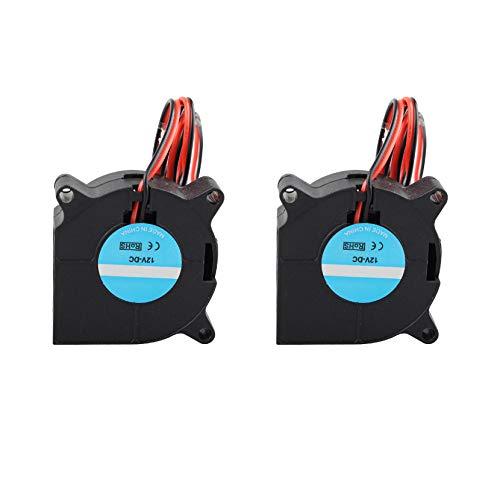 2 ventiladores de refrigeración radiales para impresora 3D, DC 12 V, 2 pines, accesorios extrusores de extremo caliente para impresora 3D RepRap i3, disipadores de calor