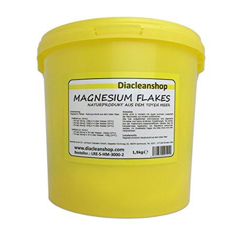 Magnesium Flakes aus dem Toten Meer 1,5kg – Magnesiumkristalle aus Magnesiumchlorid – 100% Naturprodukt - u.a. zur Herstellung von Magnesiumöl, Magnesium Spray, Magnesium Fußbad, Magnesium Vollbad uvm
