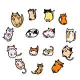 Solnoa - 15 Parches Gatos, Parches para Planchar para Niños Bebés Niñas, Parches Adhesivos para Telas, Parche Adhesivo para Camisetas, Jeans, Ropa, Bolsas, Carpeta