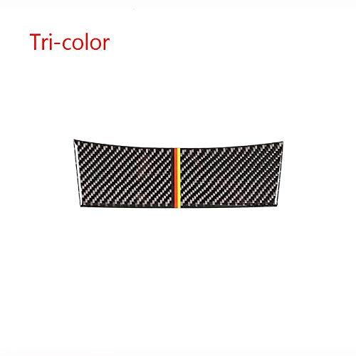 WDGXZM 2 Style Real Carbon Fiber Auto Zigarettenanzünder Dekoration Cover Aufkleber Auto Zubehör,Für Mercedes Benz C Klasse W204 2007-2013 TRE-Farbe
