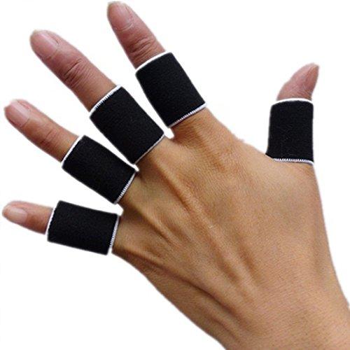 Sport Fingerschiene Guard Bands Bandage Unterstützung Wrap Basketball Volleyball Fußball Fingerstall Sleeve Kappen Protector schwarz