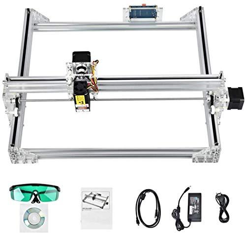 S SMAUTOP Machine de Grabador Laser Kit de Bricolaje Area de Grabado 40x30cm 2 Ejes, Módulo de 2500mW, Controlador Fuera de Línea,GRBL Control Máquina de Tallado...