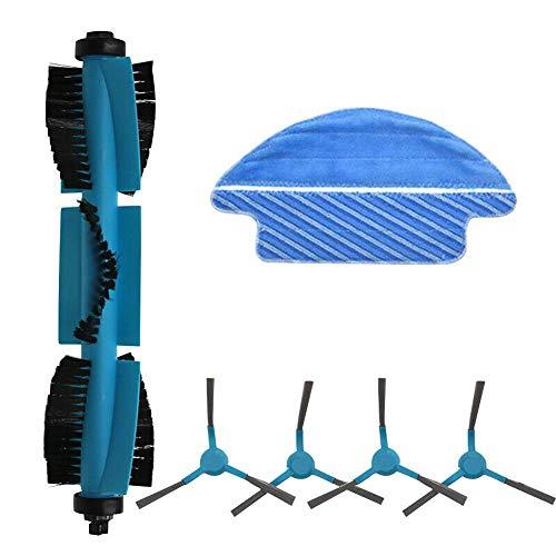 DONGYAO Cepillo de rodillo lado cepillo trapos conjunto piezas de repuesto para cecotec Conga 3090 aspirador robot para aspirador