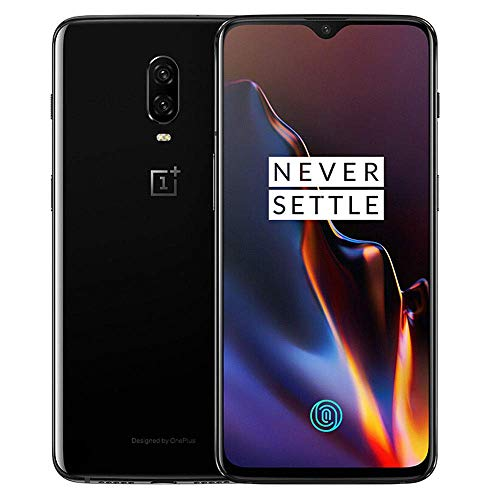 OnePlus 6T A6013 128GB Storage + 8GB Memory, 6.41 inch AMOLED Display, Android 9 - Mirror Black US Version VERIZON + GSM T-Mobile Unlocked Phone (Renewed)