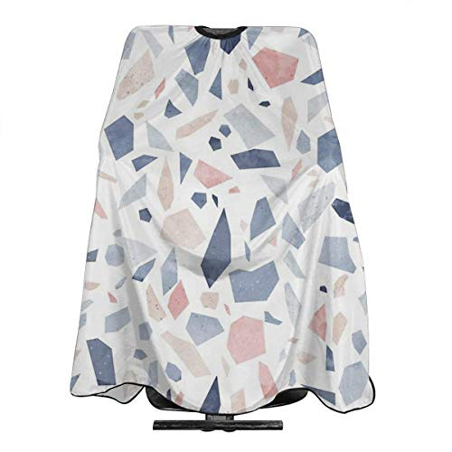 Terrazzo Vintage Pastel Blue Pink Haircut Hairdressing Cape Cloth Apron Hair Styling Hairdresser Cape Barber Salon