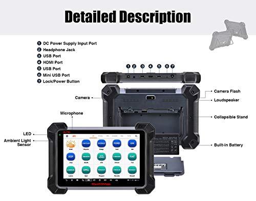 Autel MK908 Diagnosescanner (Verbesserte MS908 MaxiSys) mit ECU-Codierung Bidirektional Alle Systemdiagnosen