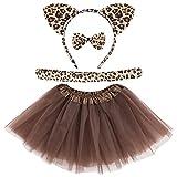 4 Pieces Halloween Leopard Costume for Kids...