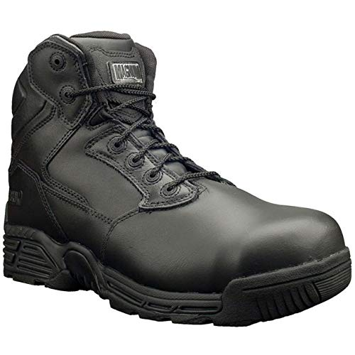 Magnum M801429/021 Stealth Force 6.0 Leather Composite Toe and Plate Unisex Uniform Safety Boot, Black, 40 Size