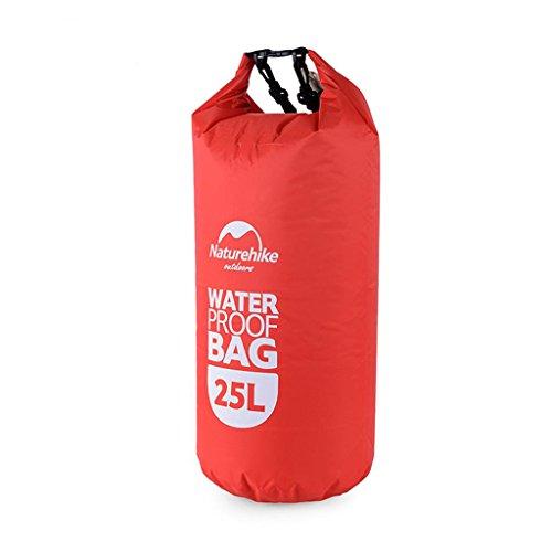 TRRE Voyage en plein air sacs étanches sac dérivantes snorkeling plage natation sac, 25L ( Couleur : Rouge )