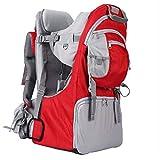 BJYX Kindertrage Faltbarer Verstellbarer Babyrückentragen mit Markise und Abnehmbarer Kleiner Schultasche für Outdoor Wandern Reisen Camping Maximale Belastung 25 Kg,Rot