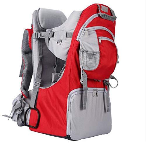 Mochila-Porta-Bebé para Bebés y Niños de hasta 25 Kg Gran Comodidad para Senderismo Trekking Viajes Portabebés,Rojo