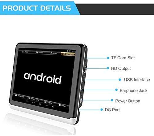 41AS7WshsBL - A10 coche universal Full HD pulgadas Android 6.0 10.1 del asiento trasero del coche del receptor de radio MP5, soporte del espejo Enlace / Wi-Fi / FM, soporte del espejo Enlace, sin DVD de reproducció