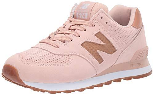 New Balance Women's 574v2 Sneaker, White Oak/Veg Tan, 7 M US