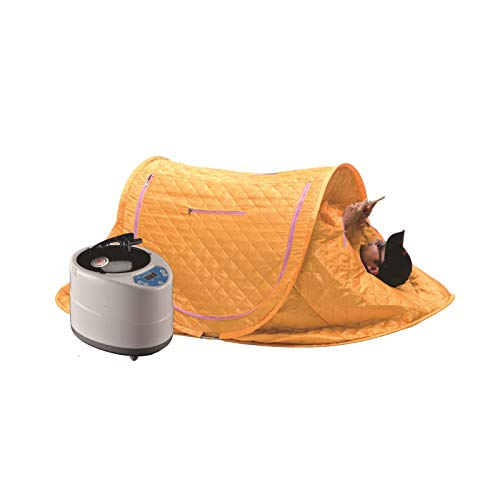 GFSD Persönliches Saunazelt for Home Sauna Spa 2. 0 L Saunadampfer Nützliche Haut Indoor Body Slimming Therapie (Color : Yellow)