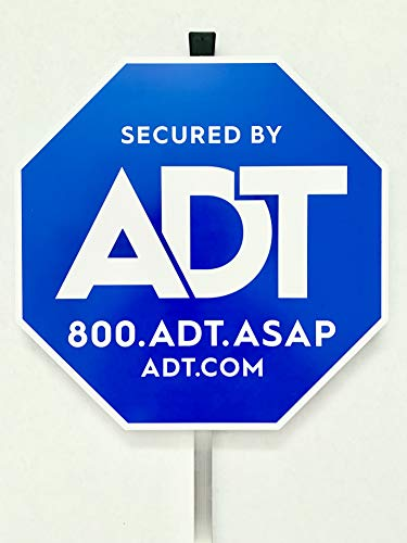 """Authentic ADT Yard Sign with Aluminum Post 27"""" New Hampshire"""