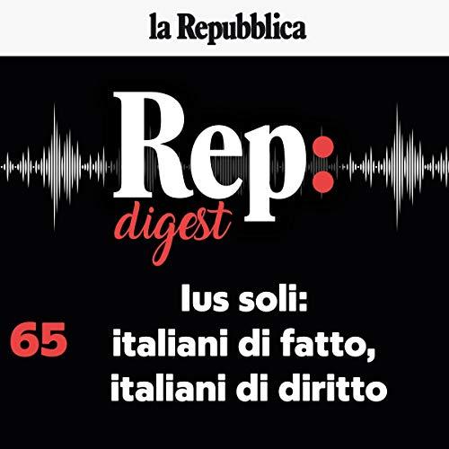 Ius soli: italiani di fatto, italiani di diritto copertina
