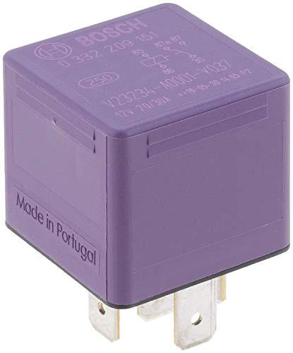 Bosch 0332209151 Mini-Relais 12V 30A, IP5K4, Betriebstemperatur von -40° bis 100°, Wechselrelais, 5 Pin Relais