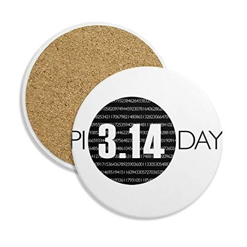 DIYthinker 3.14 pi día Aniversario Coaster la Taza de cerámica Titular de Piedra Absorbente para Regalo Bebidas 2pcs