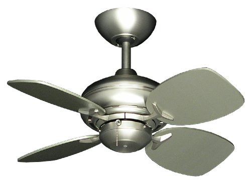 26' Mini Breeze Ceiling Fan in Satin Steel